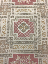 "Load image into Gallery viewer, Vintage Moroccan style 54"" wide cotton vintage almond pink and beige fabric Moorish pattern"