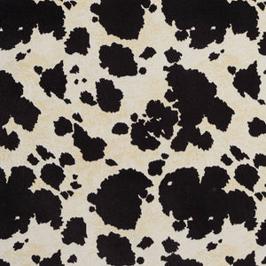 Essentials Performance Stain Resistant Black Cow Microfiber Upholstery Fabric / Black Palomino