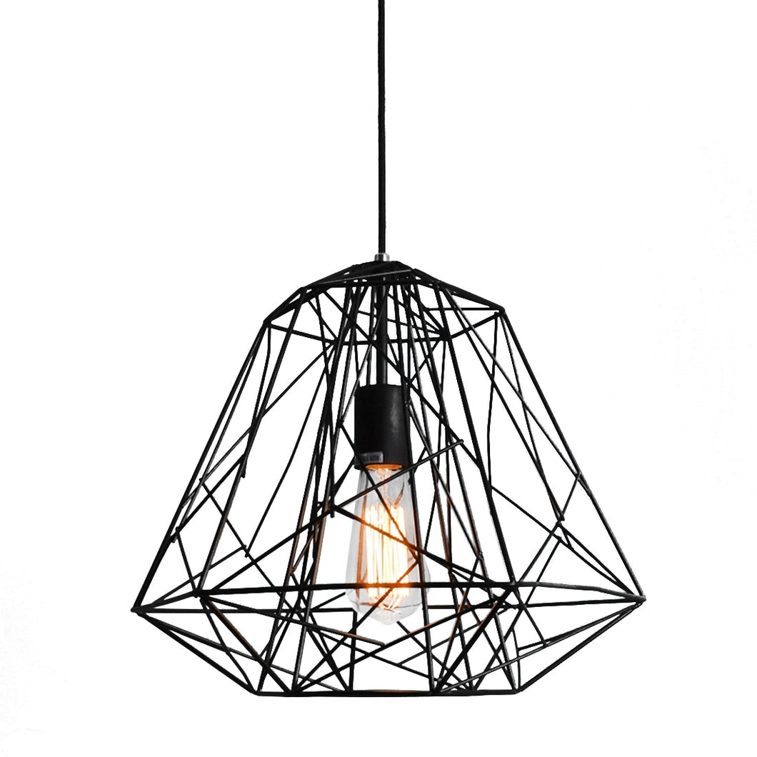 Abstract Metal Ceiling Cage Light / Black - Free USA Shipping