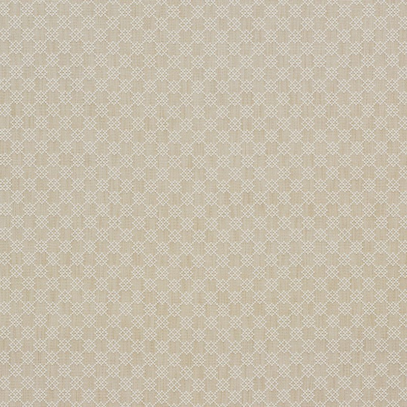 Schumacher Albert Fret Fabric / Natural