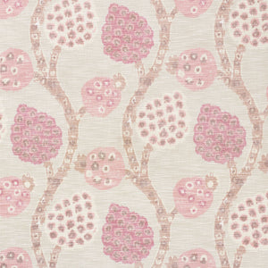 Schumacher Annabel Warp Print Fabric / Rose