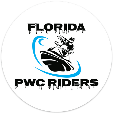 Florida PWC Riders Stickers 6 Inch Diameter