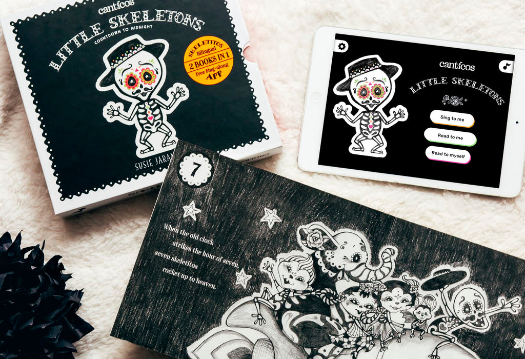 Little Skeletons / Esqueletitos - A day of the dead book by Susie Jaramillo (Canticos)