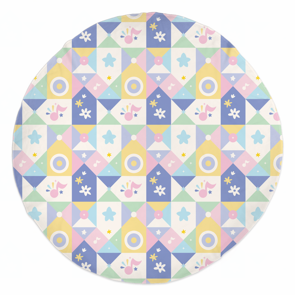 Rounded Beach Towel Geometric