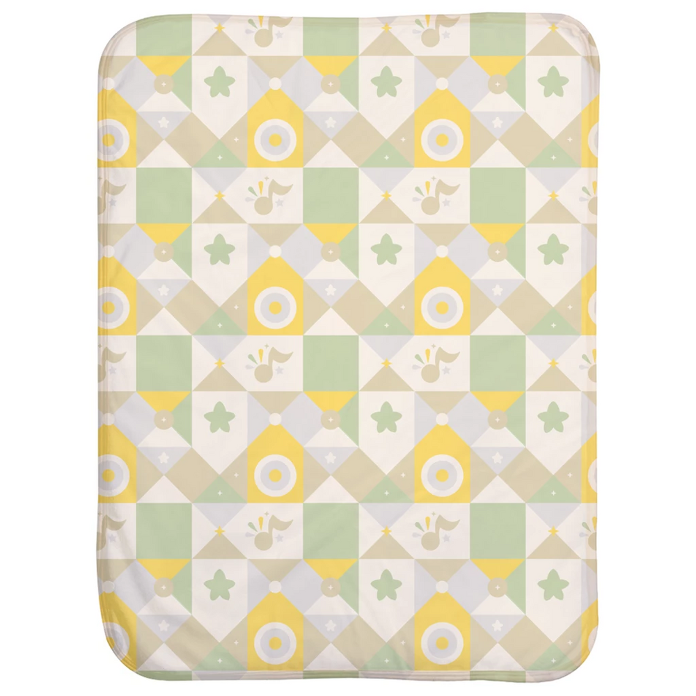 Canticos Sherpa Baby Blanket - Geometric Green