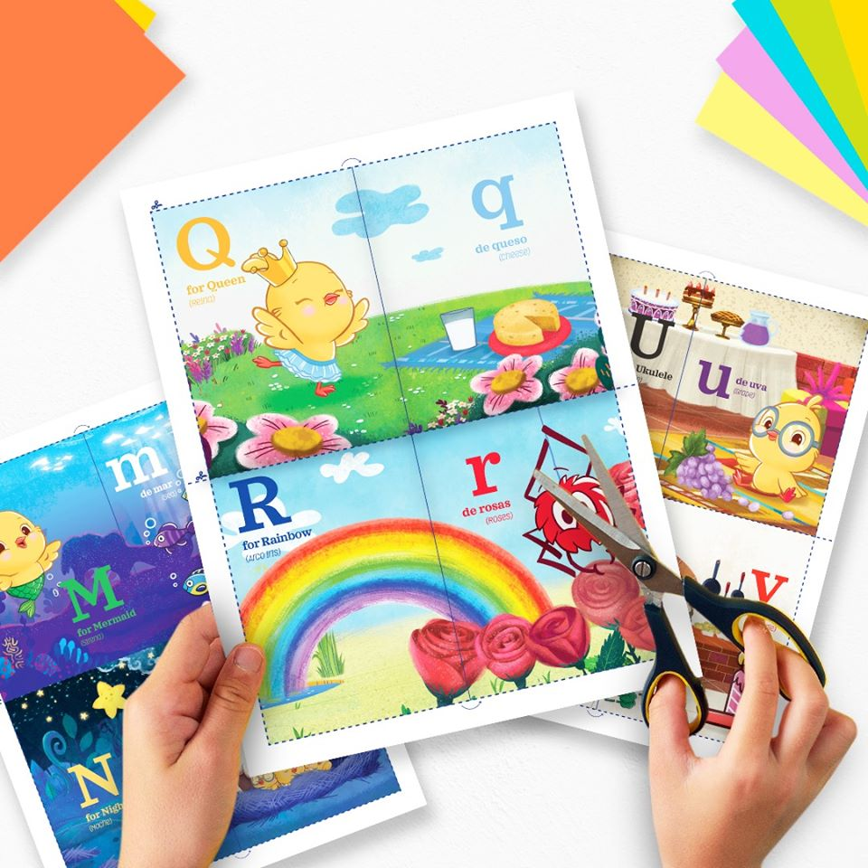 Printable A to Z Bilingual Flashcards
