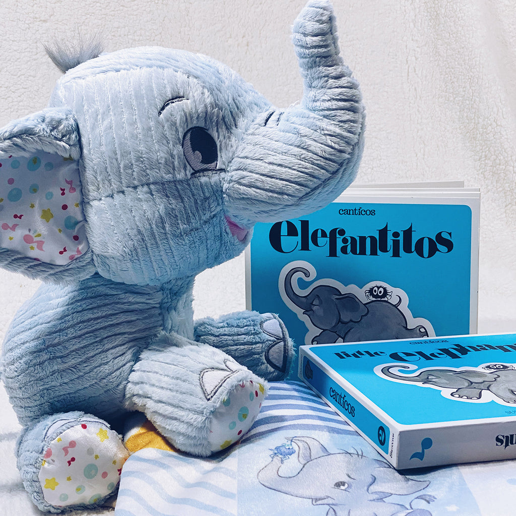 Benji the Elephant Bundle set: Plush and Reversible Book