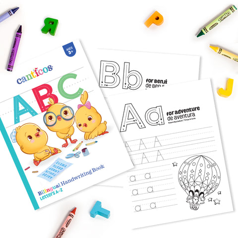 Printable Bilingual Handwritting Book
