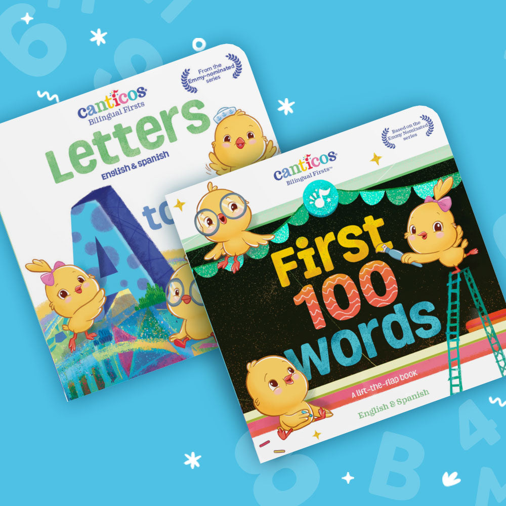 Bilingual Firsts Book Set Bundle: Letters A to Z and First 100 words