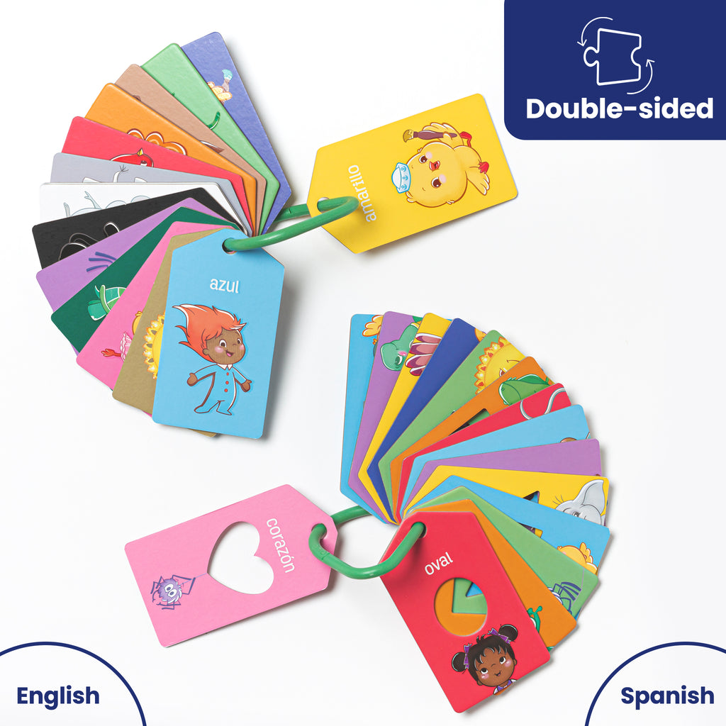 Bilingual Stroller Cards - Color and Shapes
