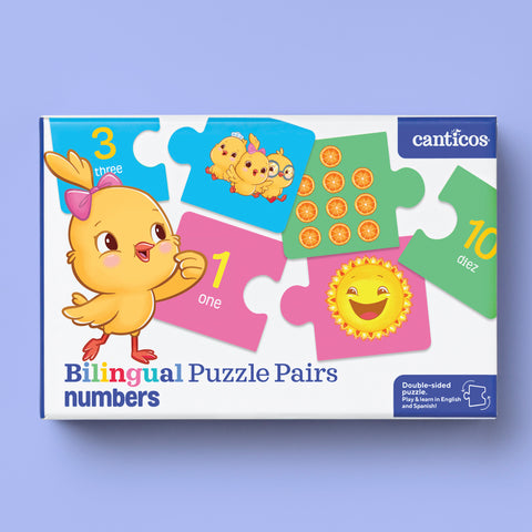 Bilingual Puzzle Pairs - Numbers