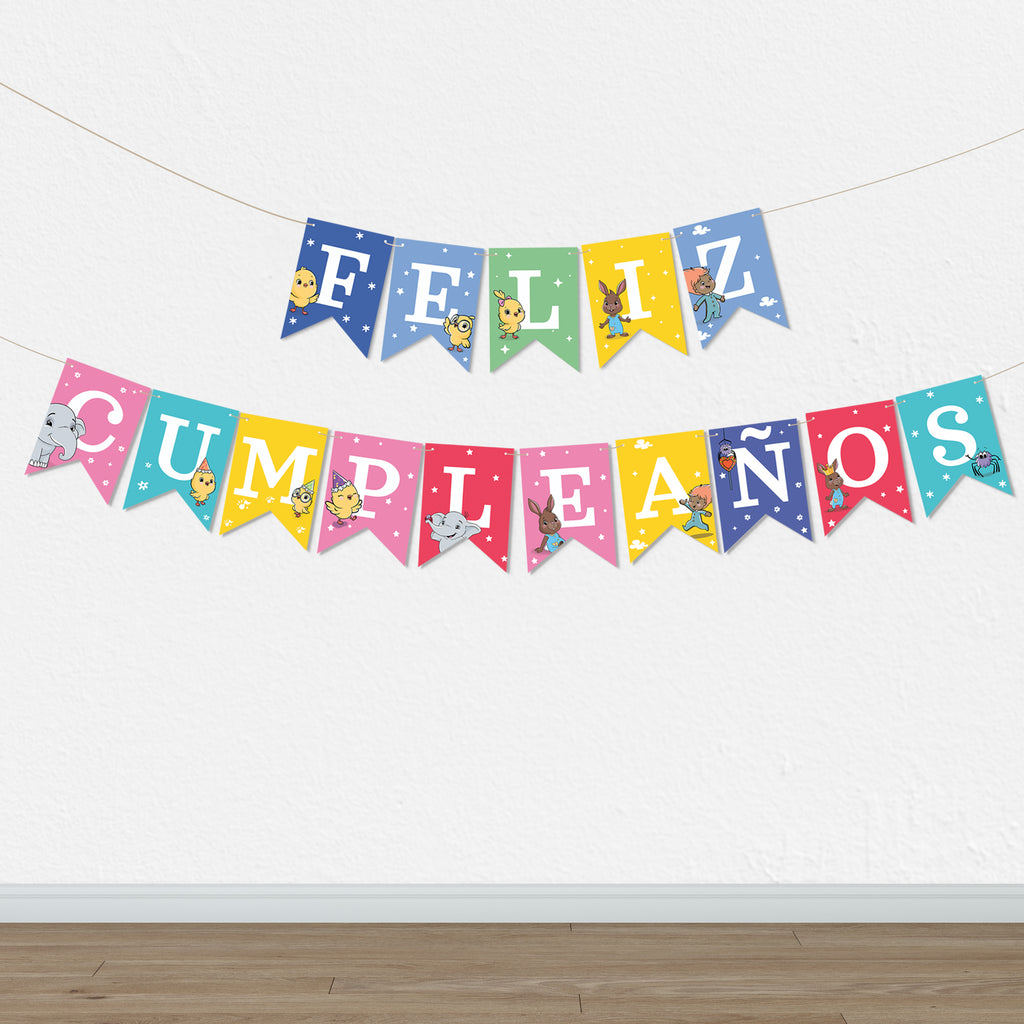 Canticos Printable Happy Birthday / Feliz Cumpleaños Party Garland