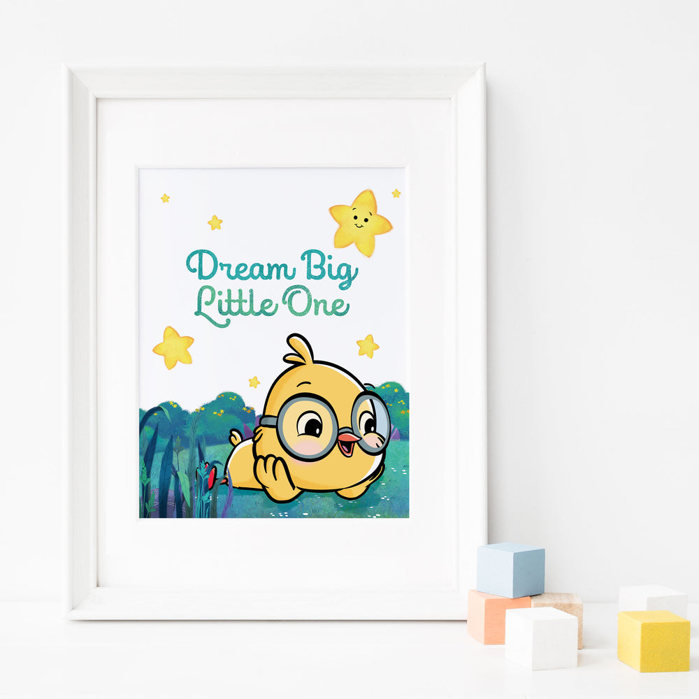 Dream Big Little One: Inspirational Nursery Poster