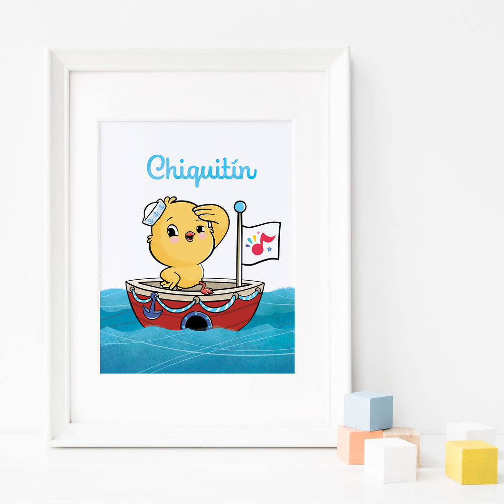 Chiquitín: Sail Boat Nautical Nursery Poster