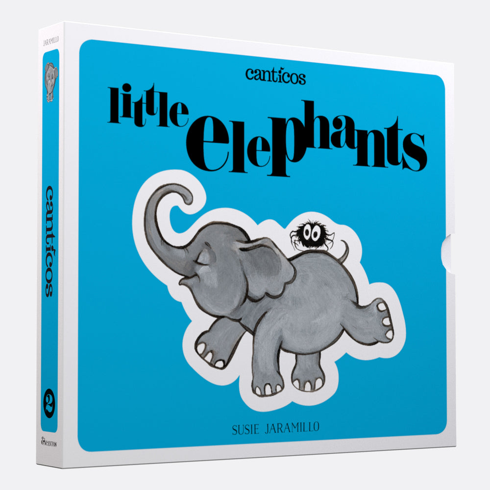 Interactive Books: Little Elephants / Elefantitos: Board book in Spanish & English