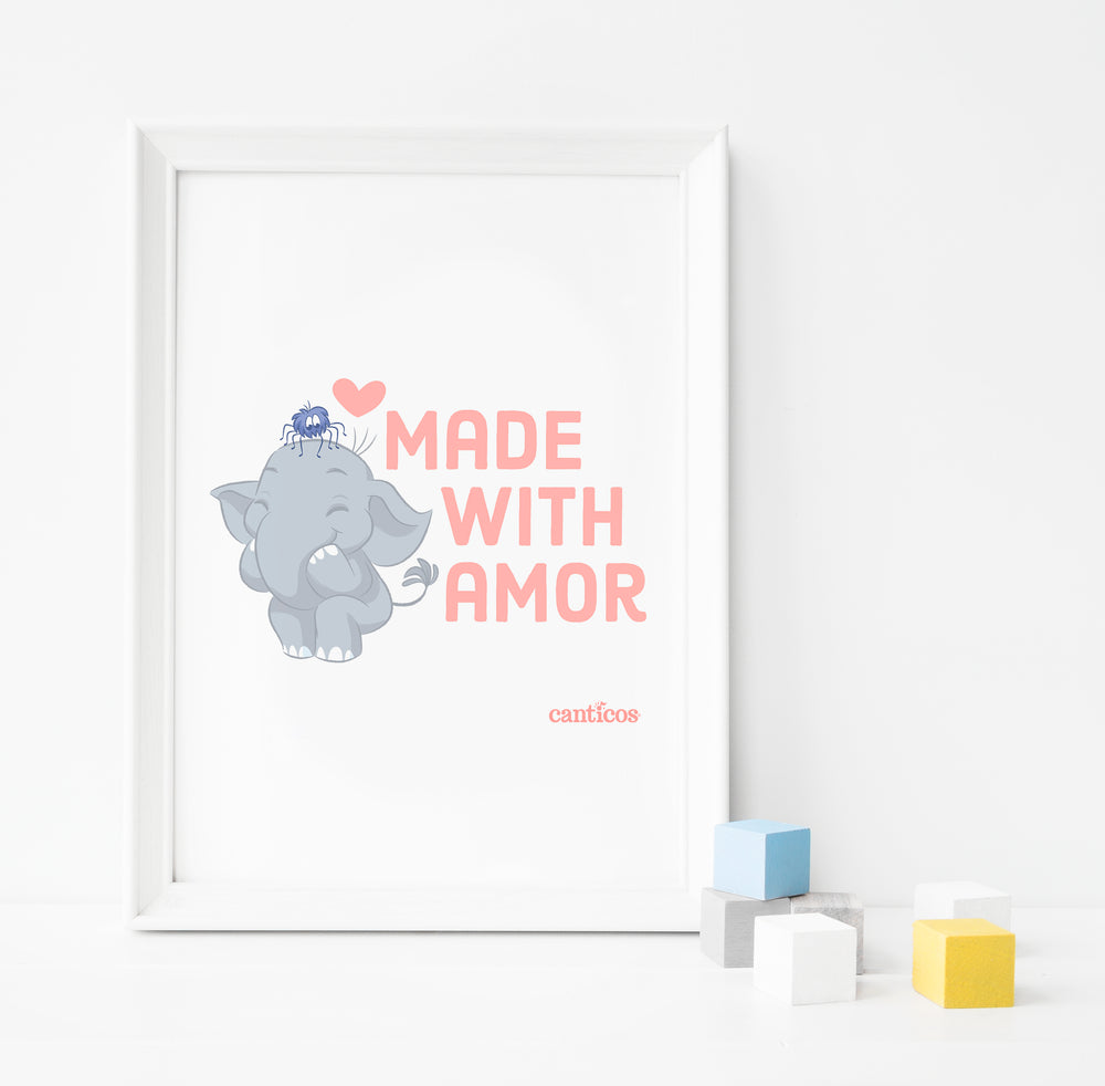 """Made with amor"" Benji Poster Nursery art"