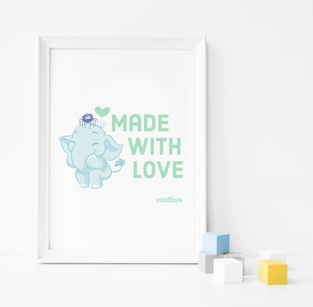 """Made with love"" Benji Poster Nursery Art"