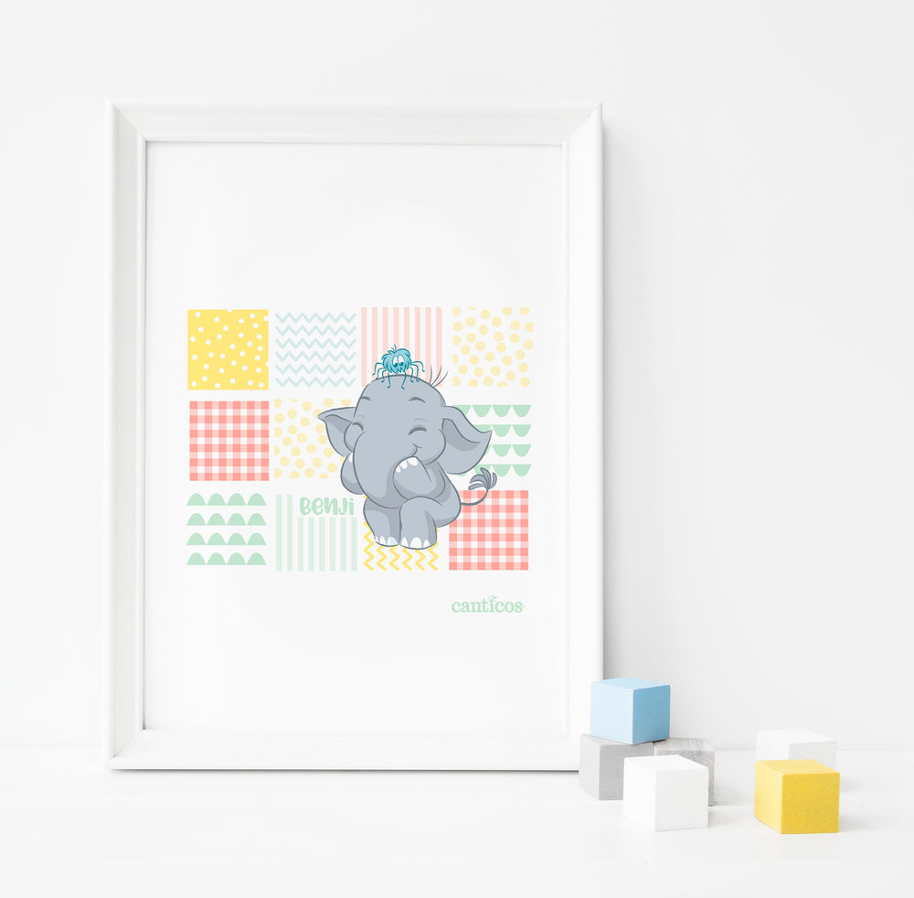 Benji Patterns Poster Nursery Art