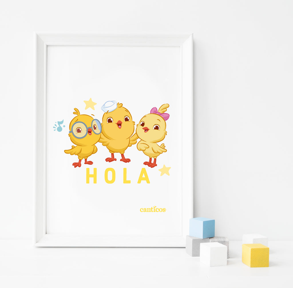 "Chickies ""Hola"" Poster"