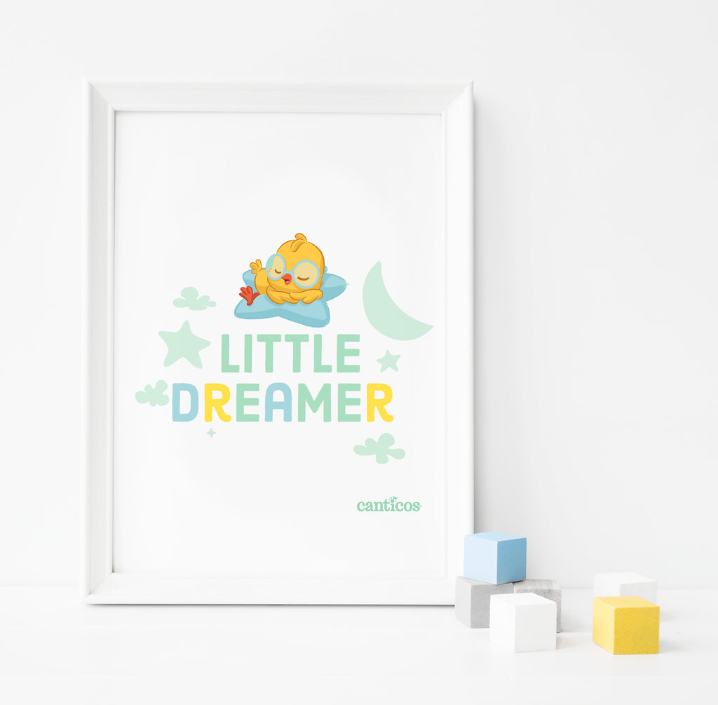Nicky Little Dreamer Poster Nursery art