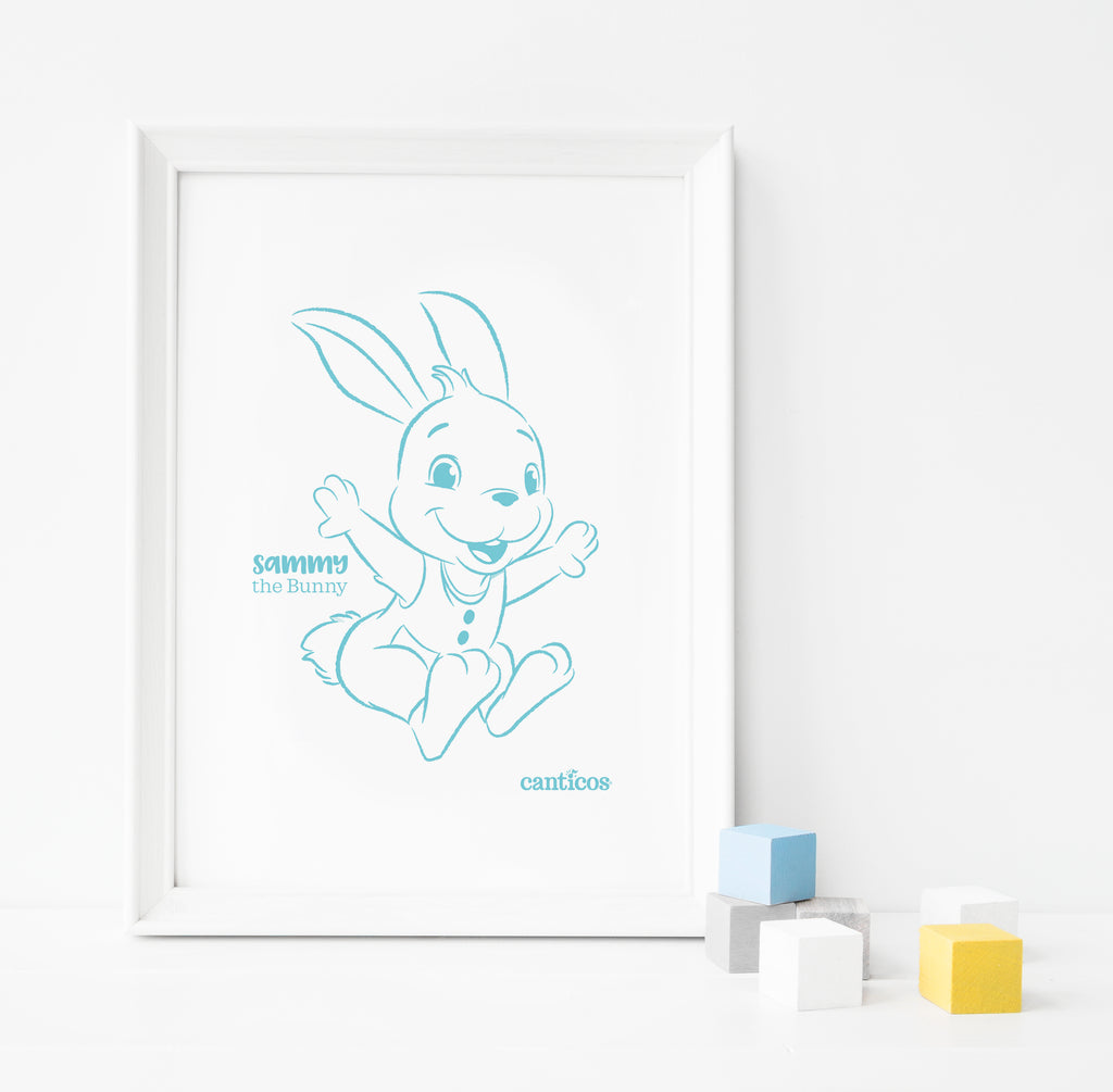 Sammy Blue Poster Nursery Art