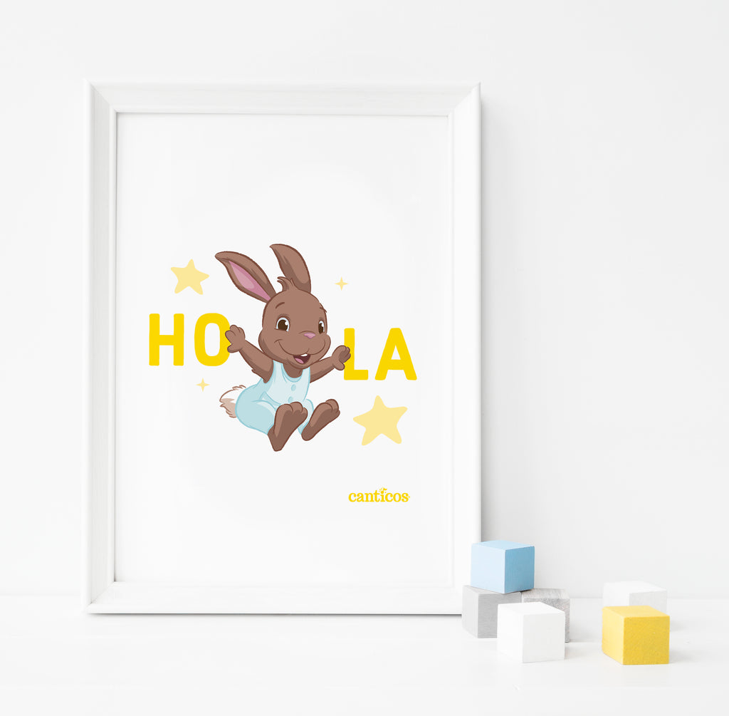 Sammy Hola Poster Nursery Art