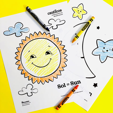 Printable Sun and Moon Coloring Sheets