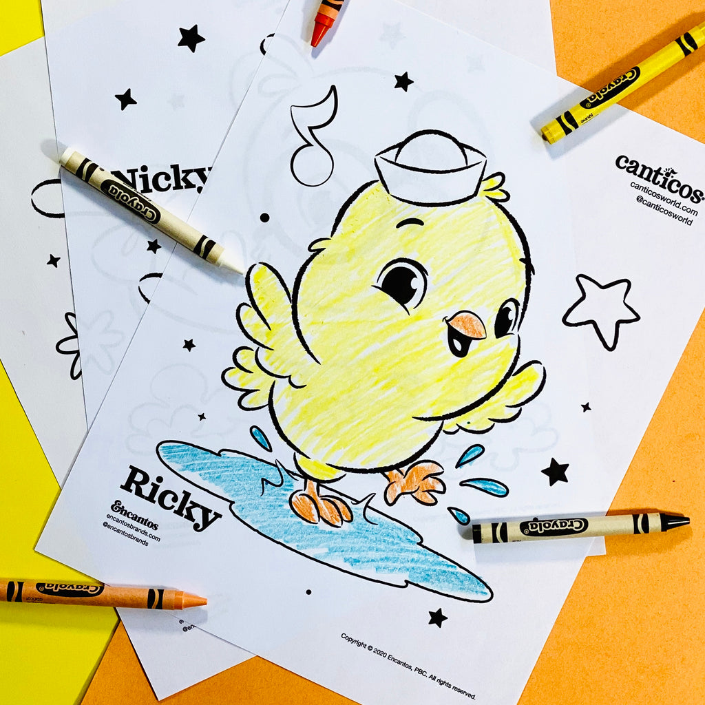 Little Chickies / Los Pollitos Coloring Sheets