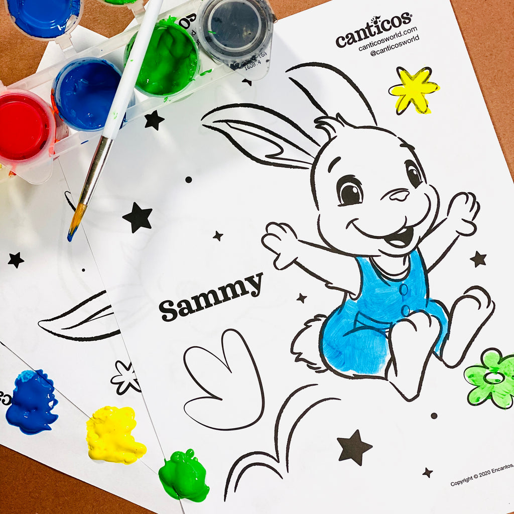 Printable Sammy the Bunny Coloring Sheets
