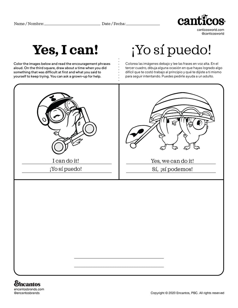 Yes I can! - Free Activity Sheet