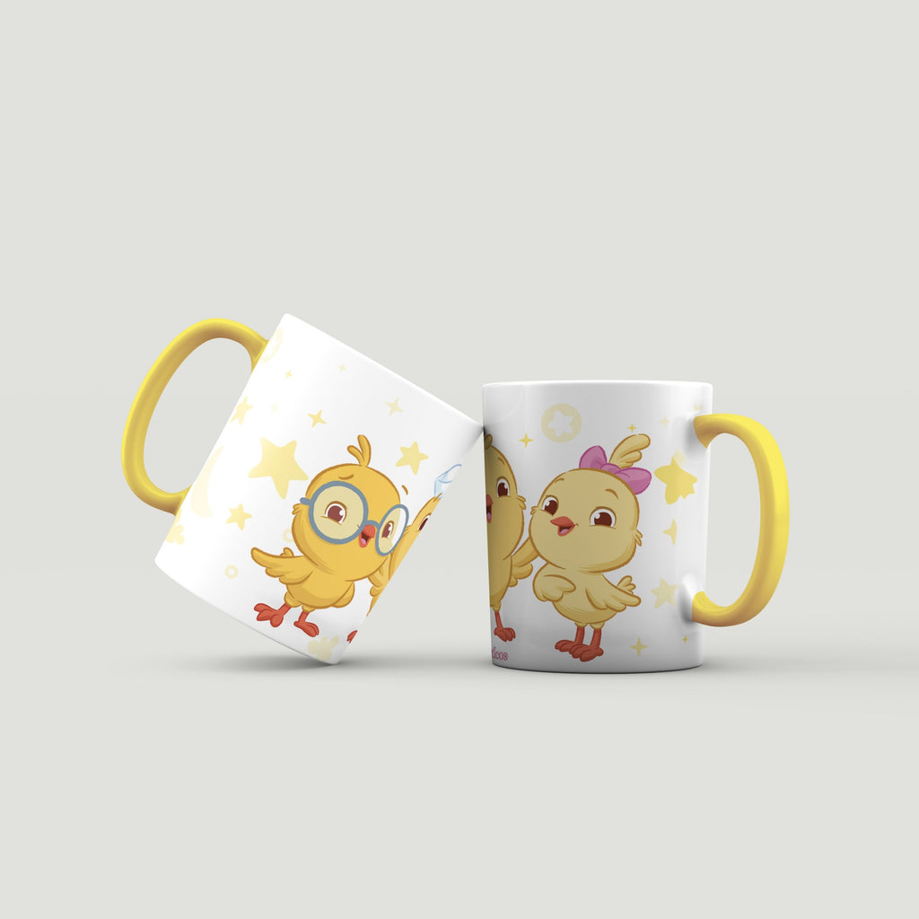 Little Chickies Yellow Mug