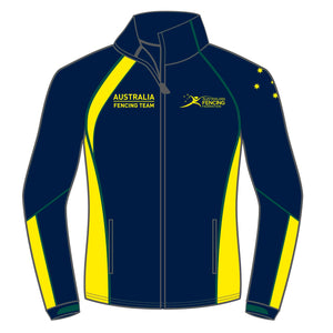 Australia Fencing Federation Mens Navy and Yellow Jacket