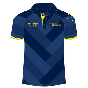 Australia Fencing Federation Mens Striped Polo