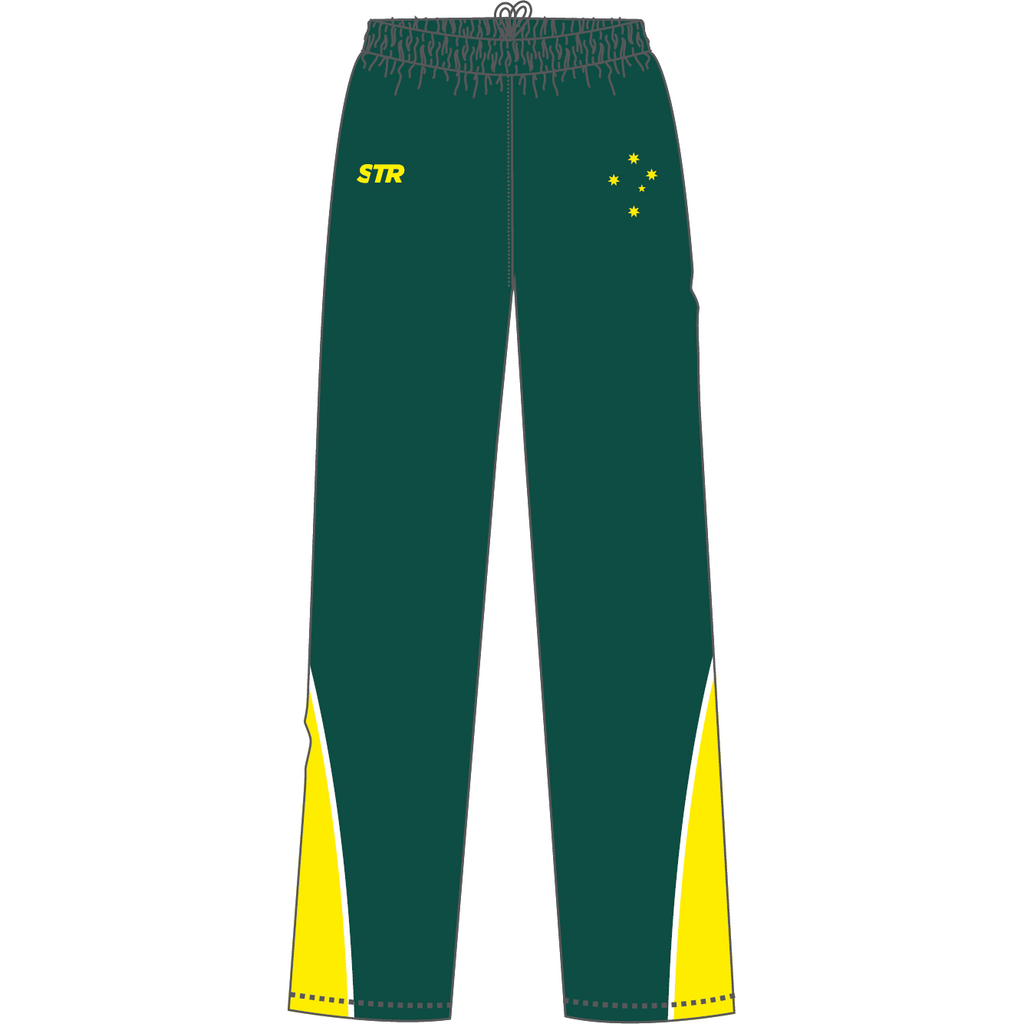 Men's AFF Green and Yellow Tracksuit Pants