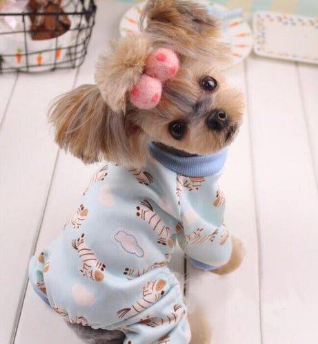 New Soft and Warm dog Pajamas cute pet dog Costume