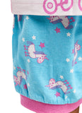 Girls 2-Piece Cotton Pajama Set, Short-Sleeve Top and Shorts, Peppa Pig, by Jellifish Kids