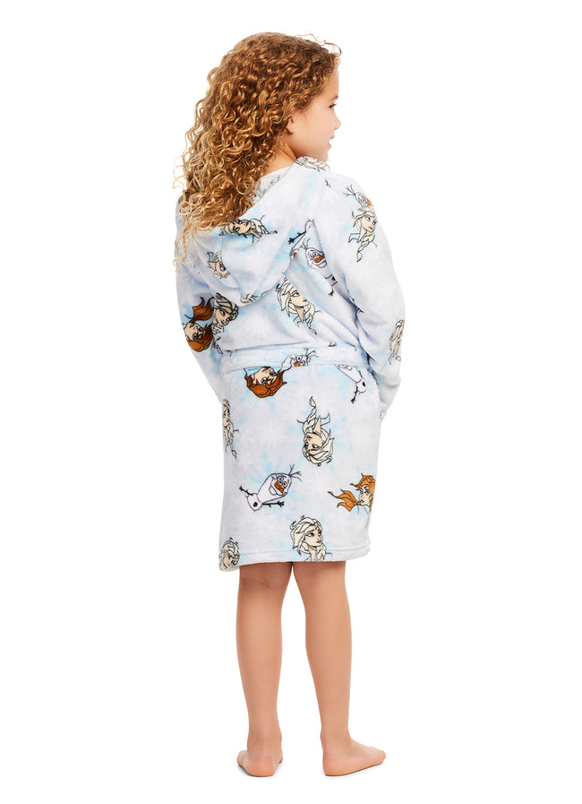 Girls Disney Frozen 2 Sleep Robe | Girls Fleece Hooded Bathrobe