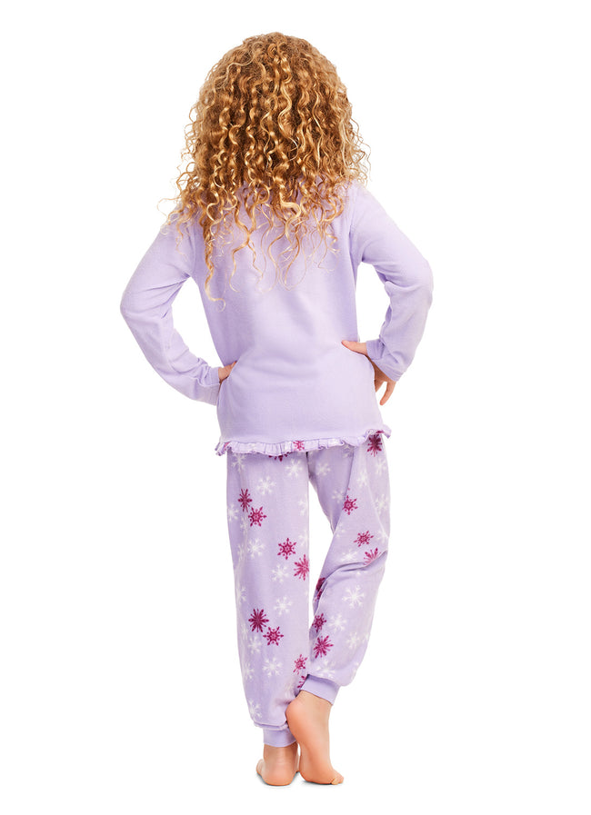 Disney Frozen 2 Pajamas - Girls PJs - Soft & Warm Kids Sleepwear - Purple
