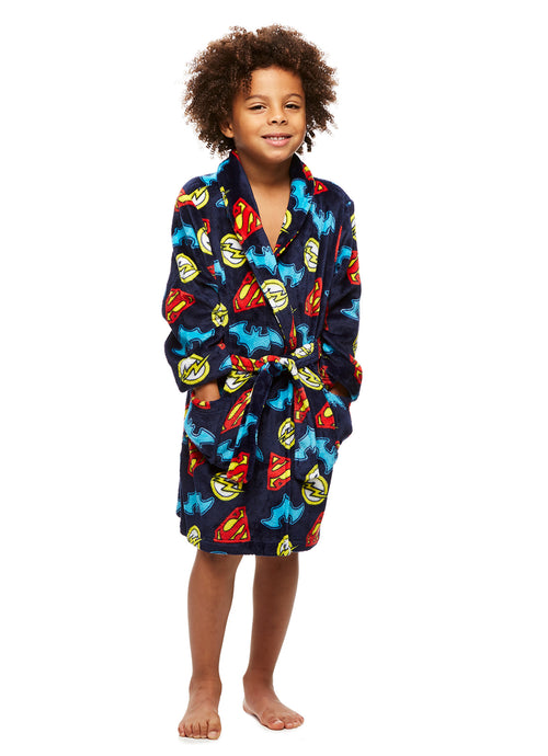 Boys Robe Superman Batman The Flash