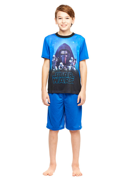 Star Wars Kylo Ren Boys 2-Piece Pajama Set With Shorts