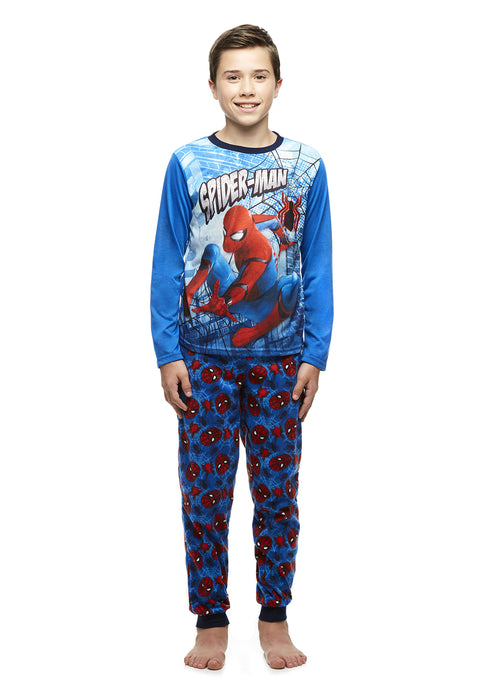 Spider-Man Big Boys Fleece 2-Piece Pajama Set With Pants