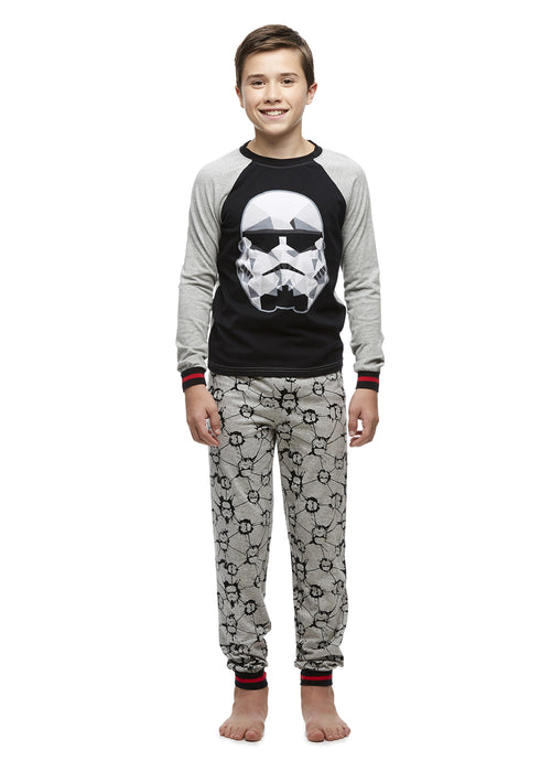 Big Boys 2-Piece Cotton Pajama Set, Long-Sleeve Top and Jogger Pants, Star Wars, by Jellifish Kids