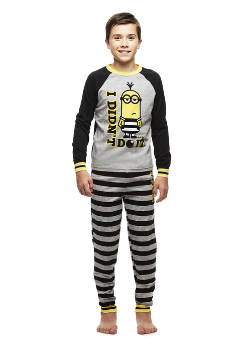Minion Pajamas Big Boys Cotton 2-Piece PJ Set