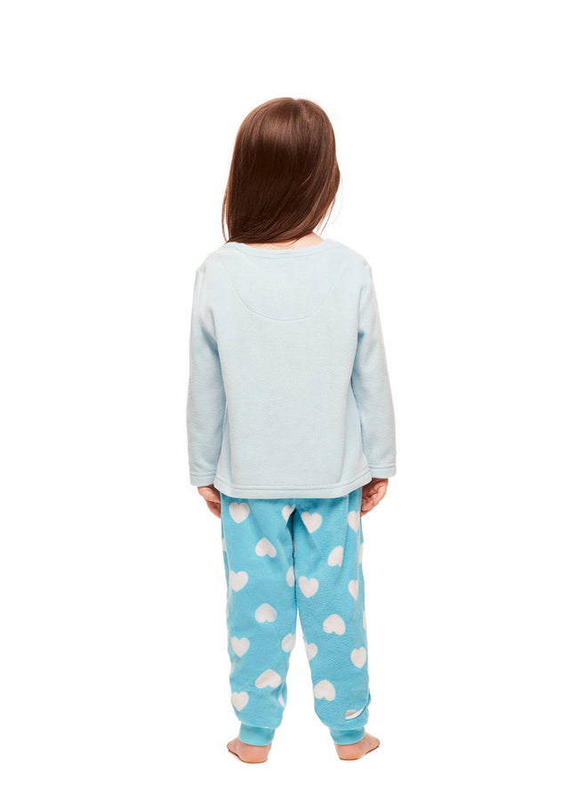 Girls Toddler 2-Piece Pajama Set, Long-Sleeve Top and Jogger Pants, Peppa Pig, by Jellifish Kids