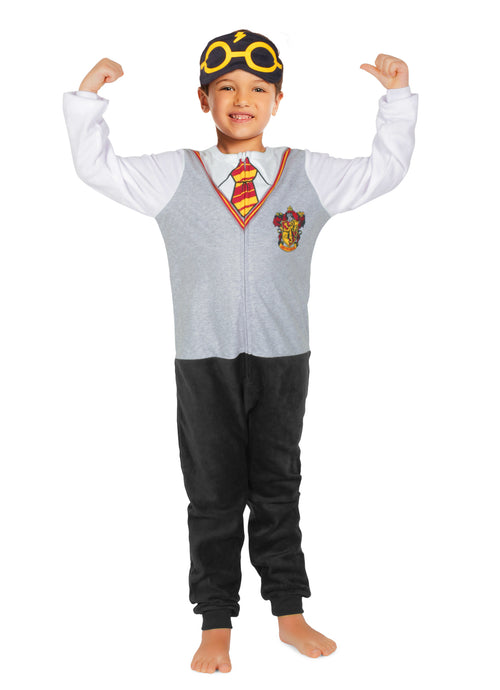 Harry Potter Gryffindor Boys Onesie Fleece Pajamas