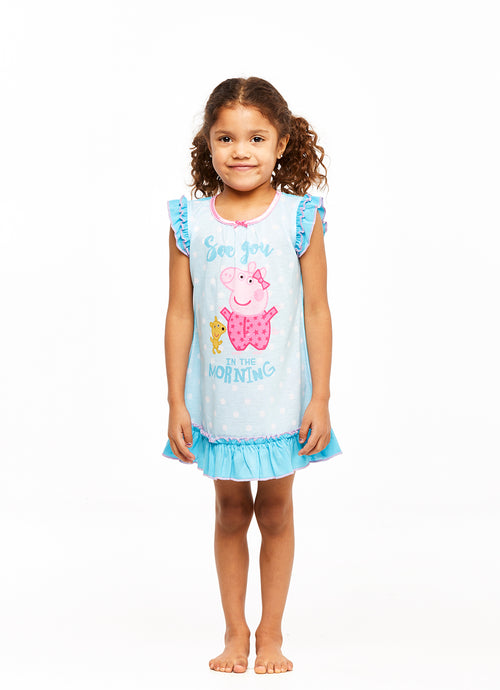 Girls Short Sleeve Nightgown, Peppa Pig, by Jellifish Kids
