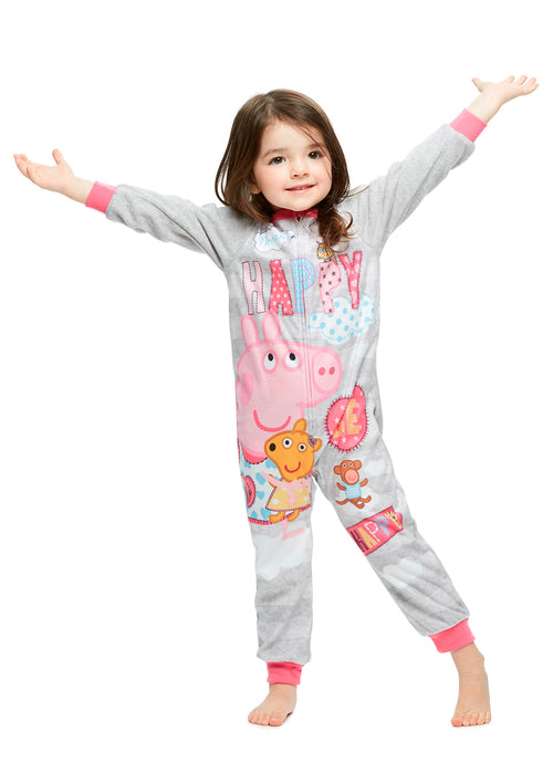 Girls Toddler Blanket Sleeper Onesie, Peppa Pig, by Jellifish Kids