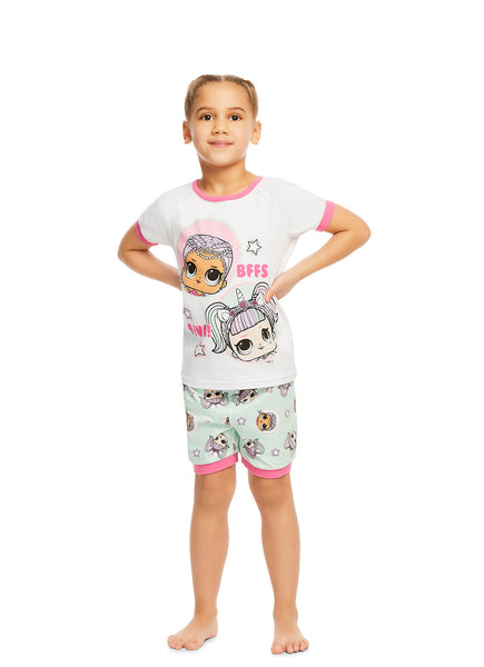 L.O.L. Surprise! Girls 2-Piece Cotton Pajama Set | Short-Sleeve Top and Shorts