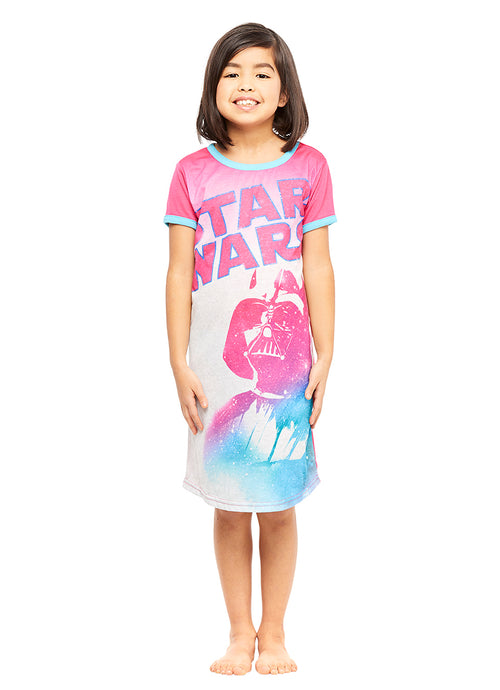 Star Wars Darth Vader Girls Pink Nightgown