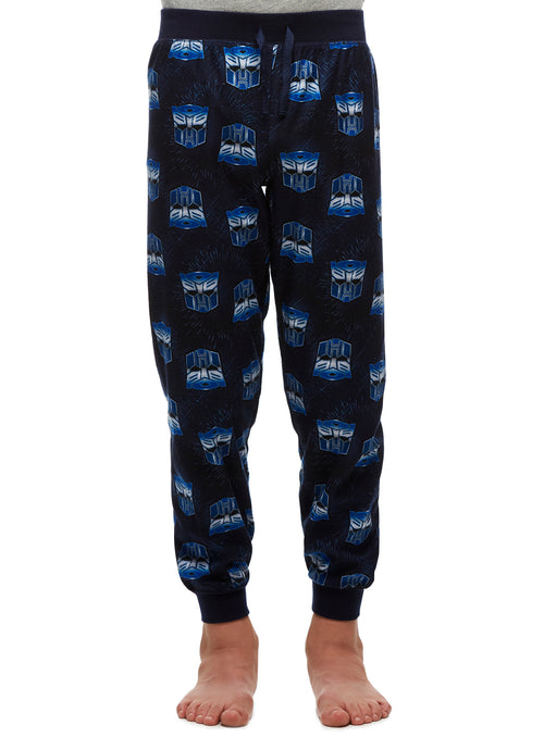 Big Boys Pajama Bottoms, Soft Jogger Pants, Transformers, by Jellifish Kids